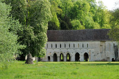 The abbey of Fontaine Guerard in Radepont Royalty Free Stock Photography