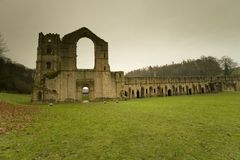 abbey fontann północ przeglądu Yorkshire Obrazy Stock