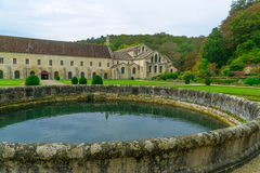 The Abbey of Fontenay Stock Images
