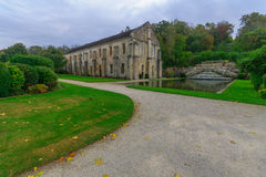 The Abbey of Fontenay. Yard, in Burgundy, France Royalty Free Stock Images