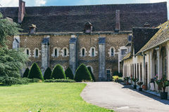 Abbey in France Pontigny, the former Cistercian abbey in France,. One of the five oldest and most important monasteries of the orde Stock Images