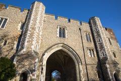 Abbey Gateway em St Albans fotos de stock royalty free