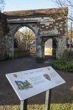 Abbey Gateway en la abadía de Waltham Imagenes de archivo