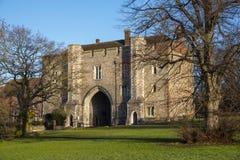 Abbey Gateway i St Albans Royaltyfri Foto