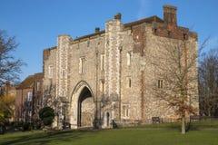 Abbey Gateway i St Albans Fotografering för Bildbyråer