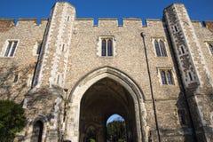 Abbey Gateway i St Albans Royaltyfri Bild