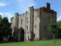Abbey Gateway St Albans Royaltyfria Bilder