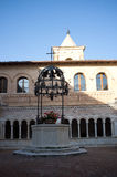 Abbey of the Holy Cross in Sassovivo Foligno, Italy Royalty Free Stock Images