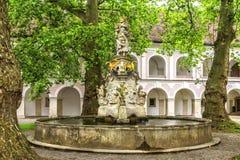 Abbey of the Holy Cross (Stift Heiligenkreuz) in  Vienna woods. Stock Photography