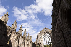 Abbey in Holyrood Palace Stock Images