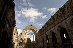 Abbey in Holyrood Palace Stock Photo