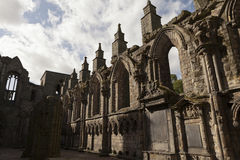 Abbey in Holyrood Palace Royalty Free Stock Photography
