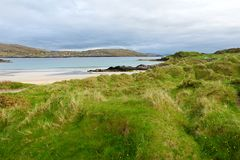 Abbey Island, berühmt für die Ruinen von Abtei und von cementery Derrynane, gelegen in der Grafschaft Kerry, Irland Stockfoto