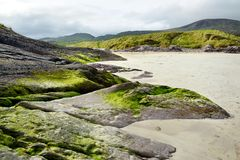 Abbey Island, berühmt für die Ruinen von Abtei und von cementery Derrynane, gelegen in der Grafschaft Kerry, Irland Stockfotografie