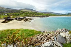 Abbey Island, berühmt für die Ruinen von Abtei und von cementery Derrynane, gelegen in der Grafschaft Kerry, Irland Stockfotos