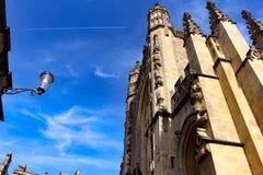 abbey kąpielowy budynek zbudowane barwił England historyczny kamień z miodu Zdjęcia Royalty Free