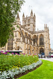 abbey kąpielowy budynek zbudowane barwił England historyczny kamień z miodu Skąpanie, Somerset, Anglia Zdjęcia Stock
