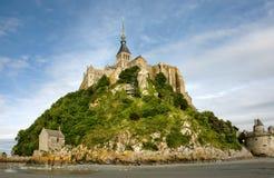 Abbey Le Mont Saint Michel stock foto's