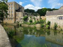 Abbey Mill Reflections Stockfoto