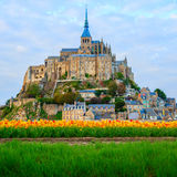 Abbey  of Mont Saint Michel,. Abbey of Mont Saint Michel,  Normandy, France Royalty Free Stock Photography