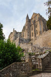 Abbey Mont Saint Michel Royaltyfria Foton