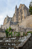 Abbey Mont Saint Michel Royaltyfri Bild