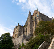 Abbey Mont Saint Michel Arkivbilder