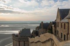 Abbey Mont Saint Michel Fotografering för Bildbyråer