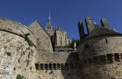 Abbey of Mont Saint Michel Stock Photo