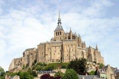 Abbey Mont Saint-Michel, Frankrike Royaltyfri Bild