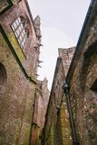 Abbey Mont Saint Michel i Normandie Manche Frankrike Fotografering för Bildbyråer
