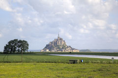 Abbey of Mont Saint Michel, Normandy, France Stock Photo