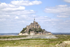 Abbey of Mont Saint Michel, Normandy, France Royalty Free Stock Photos