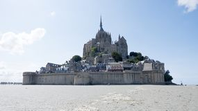 Abbey of Mont St. Michel. View of famous Le Mont Saint-Michel, Brittany Normandy France stock photography