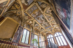Abbey of Monte Oliveto Maggiore, Tuscany, Italy Stock Images