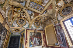 Abbey of Monte Oliveto Maggiore, Tuscany, Italy Royalty Free Stock Images