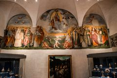Abbey of Monte Oliveto Maggiore, Tuscany, Italy Royalty Free Stock Photography