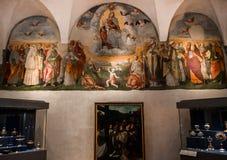 Abbey of Monte Oliveto Maggiore, Tuscany, Italy Royalty Free Stock Photos