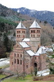 Abbey of Murbach, Alsace. Old Alsatian abbey in France Royalty Free Stock Images
