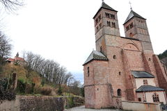 Abbey of Murbach, Alsace. Old Alsatian abbey in France Royalty Free Stock Photo