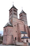 Abbey of Murbach, Alsace. Old Alsatian abbey in France Royalty Free Stock Photography