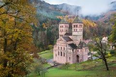 Abbey of Murbach. Roman Abbey of Murbach in Alsace, France royalty free stock photos