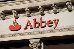 Abbey National signage, London Stock Photo