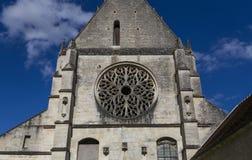 Abbey Notre Dame de Lieu Restaure, Oise, Francia Imagen de archivo