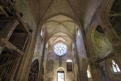Abbey Notre Dame de Lieu Restaure, Oise, Francia Imagen de archivo libre de regalías