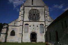 Abbey Notre Dame de Lieu Restaure, Oise, Francia Foto de archivo libre de regalías