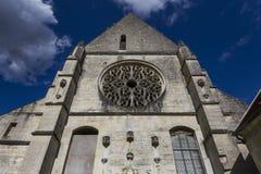 Abbey Notre Dame de Lieu Restaure, Oise, Frankreich Lizenzfreie Stockfotos
