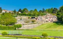 Abbey Notre-Dame real de la Celles-sur-belleza en Francia Fotos de archivo libres de regalías