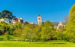 Abbey Notre-Dame real de la Celles-sur-belleza en Francia Foto de archivo