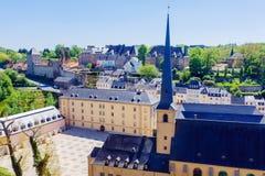 Abbey och St. Ioann Chirch, Luxembourg Arkivbild